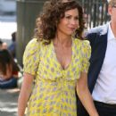 Minnie Driver in Yellow Dress – Out in London - 454 x 681
