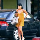 Vanessa Hudgens in Mini Dress Out in Los Angeles - 454 x 502