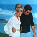 Jane Fonda and Roger Vadim enjoying a romantic stroll in St. Tropez. Jasmin (Germany) December 1968