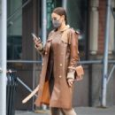 Irina Shayk – Seen in all brown while out in New York