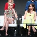 Sarah Wayne Callies of 'The Long Road Home' speaks onstage during the National Geographic Channels portion of the 2017 Summer Television Critics Association Press Tour at The Beverly Hilton Hotel on July 25, 2017 in Beverly Hills, California