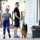Ariel Winter and Boyfriend Levi Meaden – With Their Dog in Los Angeles