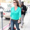 Model Cindy Crawford heads to a medical building for the 4th time in two weeks on March 15, 2012 in Beverly Hills