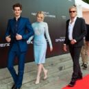 Andrew Garfield and Emma Stone premiered their brand new film The Amazing Spider-Man today, June 15, in Moscow