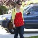 Olivia Wilde arriving at a friends house in Venice Beach, CA on March 3, 2012