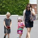 Ben Affleck and Jennifer Garner taking Violet at Seraphina to Star Eco Station in Culver City, CA (June 1)