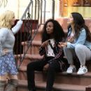 Brittany Snow DeWanda Wise and Gina Rodriguez – On the Set of 'Someone Great' in NY - 454 x 326