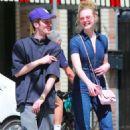 Elle Fanning in Jeans Jumsuit out in Los Feliz