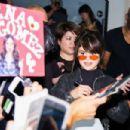 Selena Gomez arrives at Tokyo International Airport in Japan August 1,2016