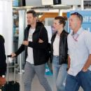 Milla Jovovich at Cape Town International Airport in South Africa - 454 x 560