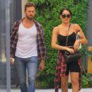 Nikki Bella and fiance Artem Chigvintsev – Visit a personal trainer in Beverly Hills - 454 x 584
