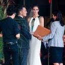 Mr and Mrs Hockey: Former New York Rangers star Sean Avery married model Hilary Rhonda in Water Mill, New York, on Saturday - 454 x 611