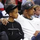 Will and Jaden Smith at the Miami Heat game (May 15)
