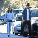 Mila Kunis and Ashton Kutcher – Out for a walk in Los Angeles