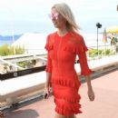 Lena Gercke in Red Dress out in Cannes - 454 x 803