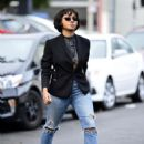 Kat Graham in Ripped Jeans – Out in LA - 454 x 645
