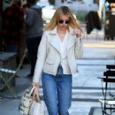 Emma Roberts – Leaves Alfred's Coffee in Los Angeles