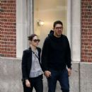 Emmy Rossum and fiance Sam Esmail out in New York City - 454 x 681
