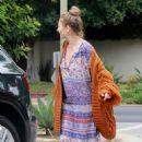 Rebecca Gayheart in Long Dress and Sweater in Los Feliz - 454 x 681
