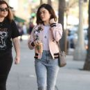 Lucy Hale in jeans shopping at Urban Outfitters in Los Angeles January 28, 2017 - 454 x 693