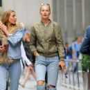 Toni Garrn and Alina Baikova out in New York
