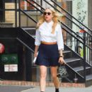 Chloe Sevigny in Black Skirt out in SoHo - 454 x 602