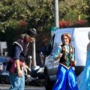 Kristen Bell and James Corden – Perform a 'Frozen' skit in traffic outside CBS Studios