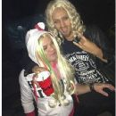 Deryck Whibley and Ari Cooper dressed as Avril and Chad for Halloween 2012 - 354 x 400