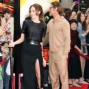 Angelina Jolie gets the support of  Brad Pitt at the Los Angeles premiere of DreamWorks Animation's Kung Fu Panda 2 held at Grauman's Chinese Theatre on Sunday (May 22) in Hollywood, California