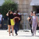 Ashley Graham in Mini Skirt – Leaving her hotel in Paris - 454 x 378