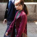 Alicia Vikander – Filming 'The Earthquake Bird' in Tokyo - 454 x 730