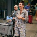 Lena Headey – Arrives back in the UK after attending the Emmy awards in LS