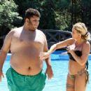 Katie Price – Wears leopard printed bikini by the poolside in Turkey - 454 x 333