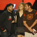 Kevin James, Jessica Biel and Adam Sandler during The 2007 MTV Movie Awards - Show - 454 x 384