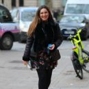 Kelly Brook in Mini Dress – Out in London