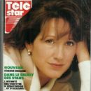 Nathalie Baye - Télé Star Magazine Cover [France] (15 October 1990)