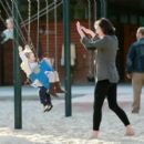 Milla Jovovich And Daughter Ever Out At The Park