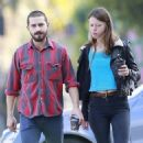 Shia Labeouf spends the day with his new girlfriend Mia Goth in Ventura, Ca December 22nd, 2012