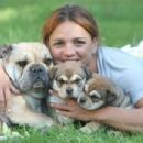 Katalin Kovács - With her dogs - 454 x 303