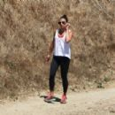 Lea Michele in Tights hike in Los Angeles - 454 x 303