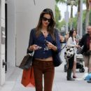 Alessandra Ambrosio Shopping In Beverly Hills