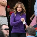 Jennifer Lopez on the set of 'Second Act' in Queens