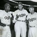 Jackie Robinson, Don Newcombe & Roy Campanella