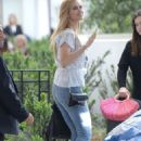 Petra Nemcova in Jeans at Martinez Hotel in Cannes