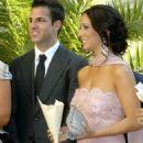 Cesc Fàbregas and Carla at Julio Baptista Wedding - 454 x 606