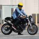 Orlando Bloom spotted out riding his Ducati motorcycle in Malibu, California on March 28, 2015