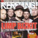 Sam Rivers, DJ Lethal, Wes Borland, John Otto, Fred Durst - Kerrang Magazine Cover [United Kingdom] (6 June 2009)