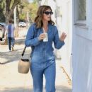 Katherine Schwarzenegger in jeans jumpsuit leaves a pet adoption animal shelter in Los Angeles - 454 x 655