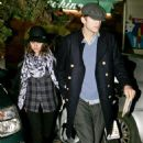 Mila Kunis and Ashton Kutcher: had a romantic dinner at Checchino in Trastevere quarter