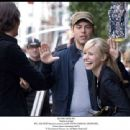 BTS: JON HEDER (back to camera), MARK STEVEN JOHNSON, KRISTEN BELL. 'Photo: Myles Aronowitz SMPSP. ' '© Touchstone Pictures, Inc. All Rights Reserved.'